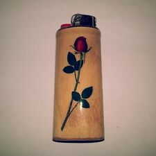 Long Stemmed Rose Flowers Roses Bic Lighter Case Holder Sleeve Cover