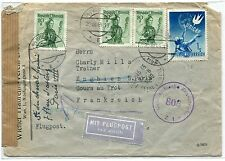 LETTRE AUTRICHE VIENNE   /  CHARLY MILLS PARIS FRANCE EQUITATION 1949 PAR AVION