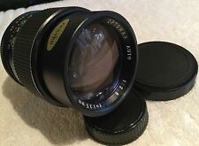 OPTOMAX AUTO 135mm 1:2.8 PRIME LENS with PENTAX M42 MOUNT in GOOD CONDITION