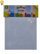 3D Decoupage Foam Pads - 5mm x 5mm Squares x 400 - 1mm Thick - Double Sided
