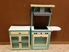Barbie Doll Vintage Green Kitchen Home Dreamhouse Furniture Light Sound Playset