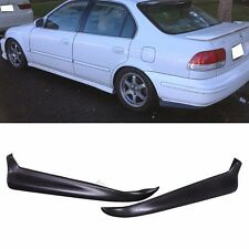 Fit 96-98 Honda Civic Rear Bumper Lip 2Dr 4 DR 2PC PU Material Valance Spats