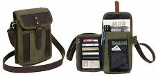 Rothco Canvas Tourist Travel Portfolio Shoulder Bag With Leather Accents 2349