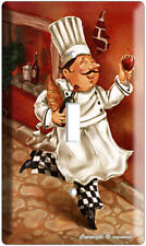 DRINKING RED WINE ITALIAN CHEF SINGLE LIGHT SWITCH WALL PLATE COVER KITCHEN ART