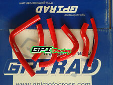 silicone radiator coolant hose KIT Honda CR250R CR 250 R 2-stroke 2000 2001 RED