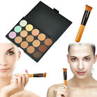 15 Colors Concealer Palette kit with Brush Face Makeup Contour Cream UK