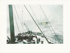 "1976 Marine Color Plate ""Rendezvous South Atlantic"" Chris Mayger WAR SHIP PRINT"