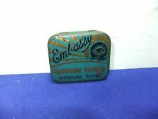 vtg needle tin embassy medium tone + part contents record gramophone