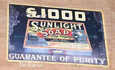 SUNLIGHT SOAP powder TIN SIGN vintage antique NEW washing laundry art RETRO old