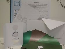 "Iris Folding Round Topiary Pack Complete Kit to Make 6 Cards measuring 6"" x 4"""