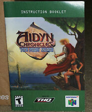 Aidyn Chronicles The First Mage Nintendo 64 MANUAL ONLY