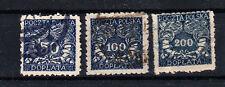 Polen Briefmarken 1919 Portomarken Mi.Nr.19+20+31