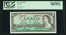 1954 $1.00 BC-37c PCGS AU 58 PPQ ** 5000000 Very RARE Million Serial Number Note