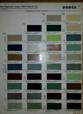 1949 52Ford & Dodge Paint Colors Chip Page sheet code chart sample commercial