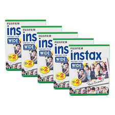 5 Packs 100 Instant Photos Fuji FujiFilm Instax Wide Film Polaroid Camera 210