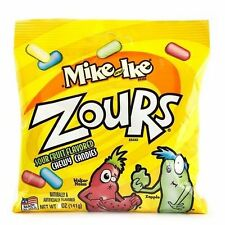 Mike and Ike Zours Sour Fruitz Chewy Sour Fruit Flavored Candies