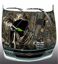 Forest tree camo grim reaper bow hunting Hood Wrap Sticker Vinyl Decal Graphic