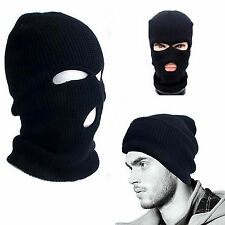 MEN'S BOYS ADULTS ARMY S.A.S BLACK WOOLY BALACLAVA SOFT SKI MASK NECK WARMER HAT