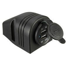 12V 3.1A Motorcycle Car Dual USB Power Charger Port Socket Plug Sales