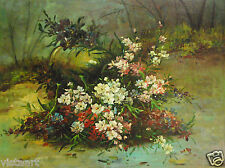 """Oil Painting On Canvas 12""""x 16"""" ~  Forest Flowers"""
