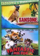 2 Dvd Box Cofanetto **SANSONE + FANTASTIC MR. FOX** 2 film Nuovo Slipcase