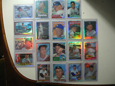 1996 Topps Finest Refractor Mickey Mantle reprint complete set 1-19