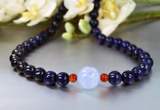 Beautiful Lapislazuli Chain with Aquamarine and red Agate