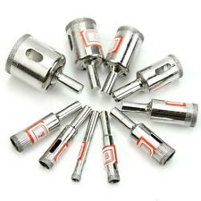 10pcs Diamond Coated Core Hole Drill Tools For Tiles Marble Glass