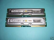 512MB SAMSUNG PC800-45  RIMM RAMBUS RDRAM, matching working pair of 256MB sticks