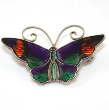 Vintage David Andersen Sterling Silver Modernist Enamel Butterfly Pin Brooch