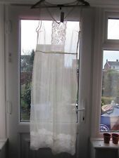 BNWT £35 UK 10 TopShop Midi Dress Cream Sheer Mesh Net Floral Lace Slip Party