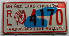 "USA Nummernschild Minnesota ""Red Lake Chippewa Indian"" mit Indianhead. 8209."