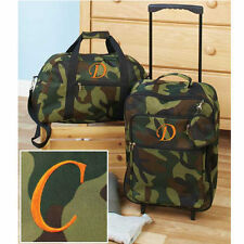 The Letter C Luggage for Kids Boys Sets Small Rolling Suitcase Duffel Bag Camo