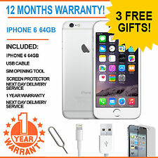Apple iPhone 6 - 64 GB - White / Silver (Factory Unlocked) - Grade A Bundle