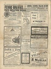 Stampa antica pubblicità FERRO BRAVAIS ecc. 1887 Old antique print