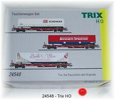 Trix 24548 Güterwagen-Set der DB AG 3-teilig einmalige Serie #NEU in OVP#