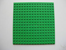 "Lego BRIGHT GREEN 16x16 stud Flat Plate 5""x5"" Base Plate Part # 91405"