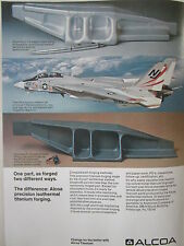 8/1973 PUB ALCOA TITANIUM PRECISION FORGING AEROSPACE INDUSTRY F-14 US NAVY AD
