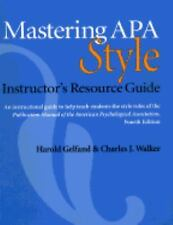 Mastering Apa Style: Students Workbook and Training Guide
