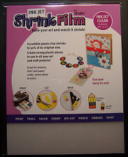 Grafix - Shrink Film InkJet  Printable - Clear Shrink Plastic 6 sheets - 8.5x11
