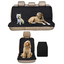 Front + Rear Car Seat Protector Covers for Dogs Pet Mud Beach Auto