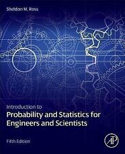 Introduction to Probability and Statistics For Engineers Scientists 5th Int'l Ed