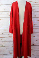 L - Large LuLaRoe Sarah Beautiful solid Red Luxurious Duster Cardigan  NWT