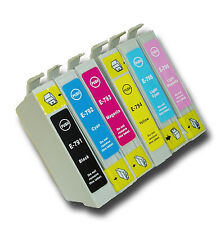 6 T0791-T0796 'Owl' Ink Cartridges Compatible Non-OEM with Epson Stylus PX820FWD