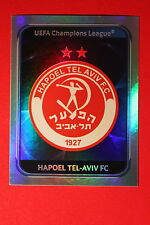 PANINI CHAMPIONS LEAGUE 2010/11 # 124 HAPOEL TEL-AVIV BADGE BLACK BACK MINT!