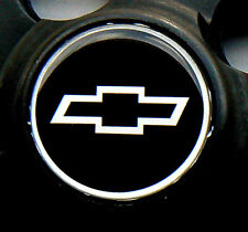 "SUPER SHARP CHEVY CHROME & BLACK & CHROME 2"" DOMED CENTER CAP STICKER DECALS"
