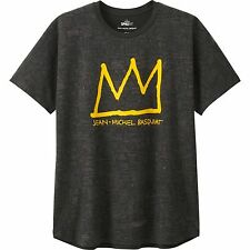 JEAN-MICHEL BASQUIAT x UNIQLO 'Crown' Graphic Artist T-Shirt Men's M Dk Gray NWT