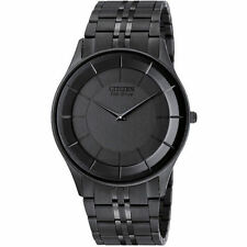 New Citizen Eco-Drive AR3015-53E Stiletto Eco Drive Black Ion Men's Watch