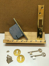 "3Lever 2 1/2""/64mm Mortice Dead Door lock Brassed Face"