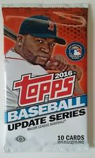 2016 Topps Update Series Baseball 10 Card Pack NIP Autograph Game-used Possible